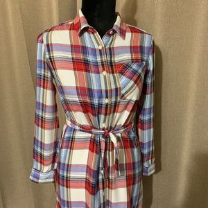 GAP PLAID SHIRTDRESS